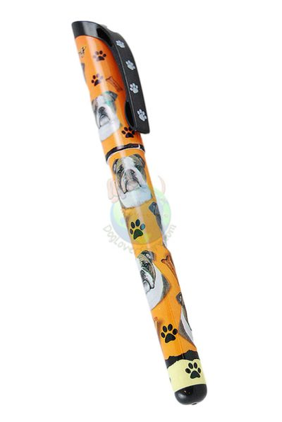 Bulldog Writing Pen Orange in Color