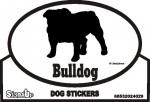 Bulldog Dog Silhouette Bumper Sticker