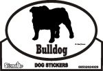 Bulldog Dog Silhouette Bumper Sticker