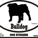 Bulldog Dog Silhouette Bumper Sticker 1