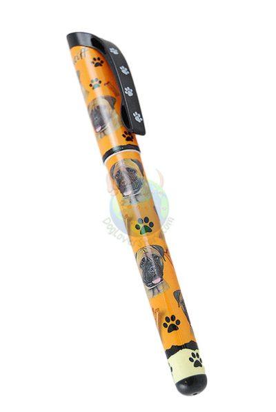 Bull Mastiff Writing Pen Orange in Color