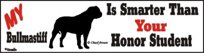 Bull Mastiff Smart Dog Bumper Sticker 1