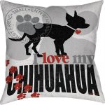 Chihuahua Dog Pillow 18x18