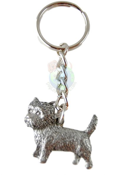 Cairn-Terrier-Dog-Fine-Pewter-Silver-Keychain-Key-Chain-Ring-180927435145