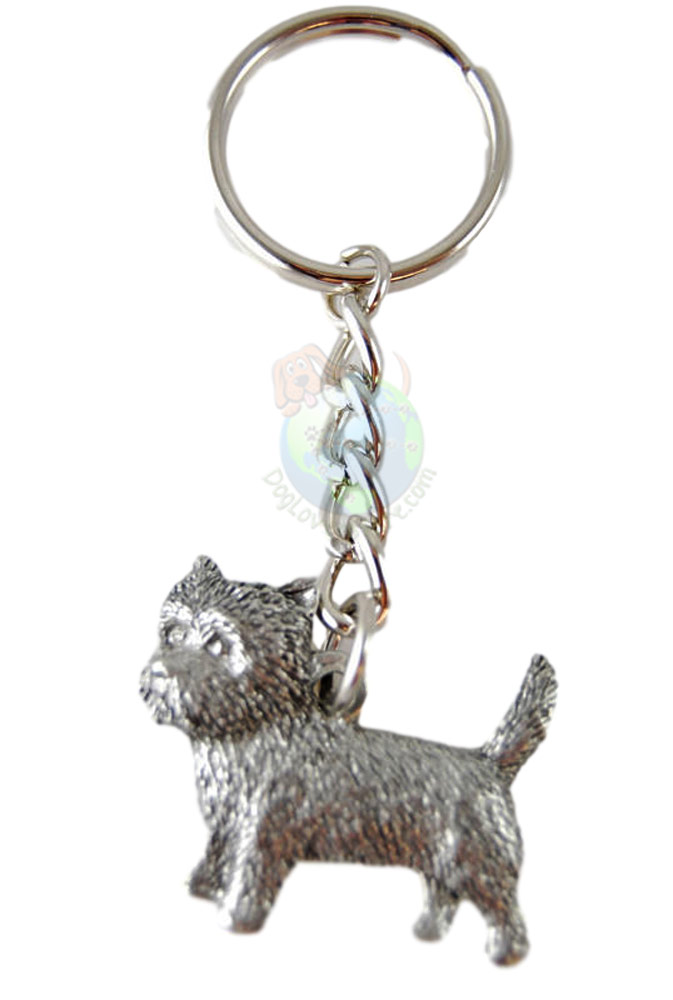 Cairn Terrier Pewter Keychain