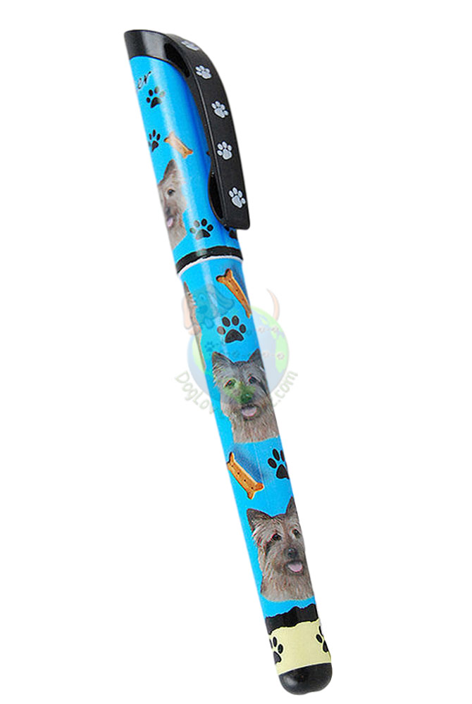 Cairn Terrier Writing Pen Blue in Color