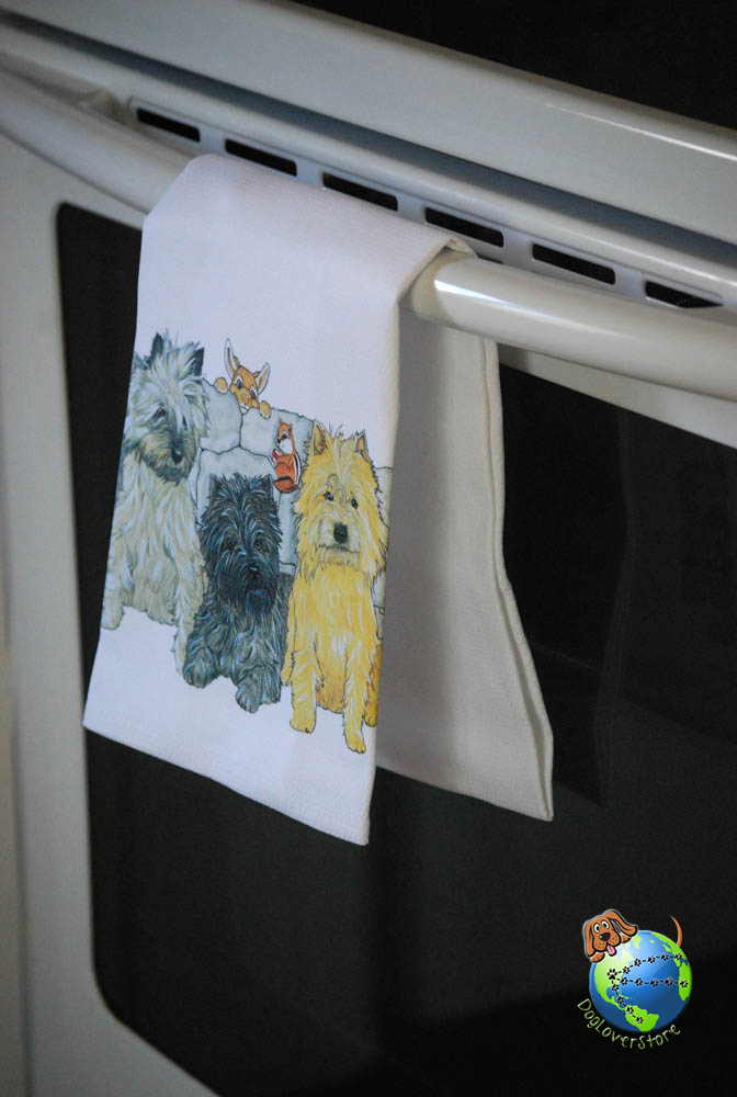 Cairn Terrier Kitchen Hand Towel