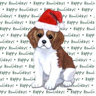Cavalier King Charles Dog Coasters Christmas Themed Puppy