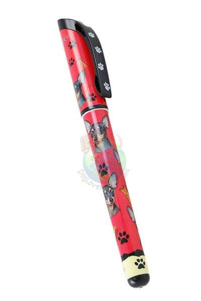 Black Chihuahua Writing Pen Red in Color