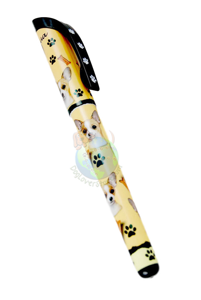Tan Chihuahua Writing Pen Yellow in Color