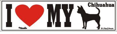 I Love My Chihuahua Dog Bumper Sticker 1