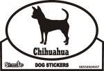 Chihuahua Dog Silhouette Bumper Sticker
