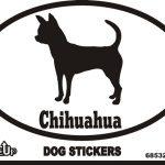 Chihuahua Dog Silhouette Bumper Sticker 1
