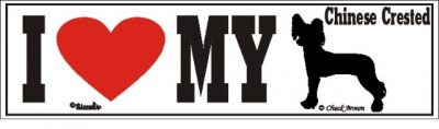 Chinese Crested_dog_love_bumper_sticker