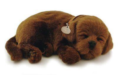 Chocolate Lab Perfect Petzzz Breathing Dog