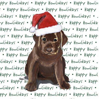 Chocolate_lab_puppy_christmas_dog_coasters