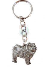 Chow Chow Pewter Keychain