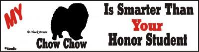 Chow Chow Dog Smarter Than Honor Bumper Sticker