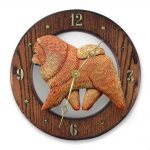 Chow Chow Red Dk Clock