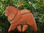 Chow Chow Tree Ornament Red