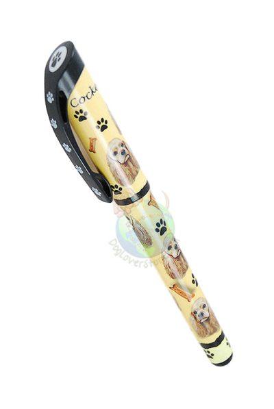 Cocker-Spaniel-Dog-Gel-Replaceable-Writing-Pen-Ballpoint-Black-Ink-Blonde-181249179636