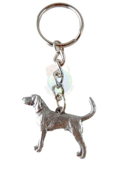 Coonhound Pewter Keychain