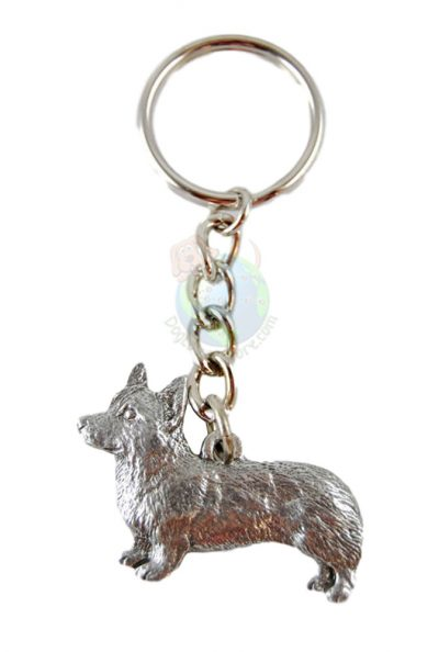 Corgi-Dog-Fine-Pewter-Silver-Keychain-Key-Chain-Ring-Pembroke-400309399194