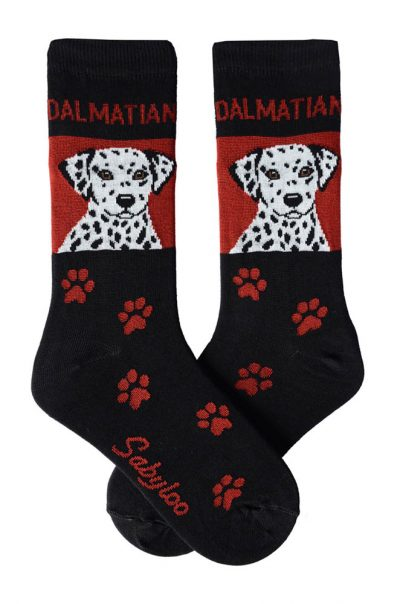 Dalmatian Socks Red and Black in Color