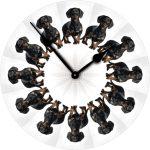 Dachshund Black Dog Wall Clock