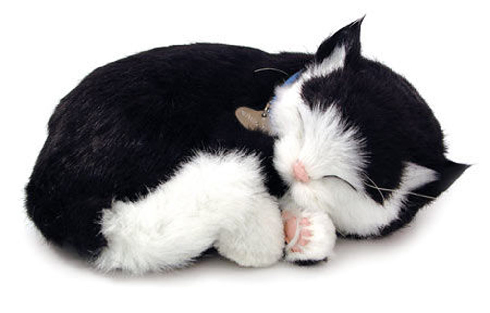 Black & White Cat Perfect Petzzz Breathing Cat