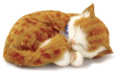 Orange Tabby Cat Perfect Petzzz Breathing Cat
