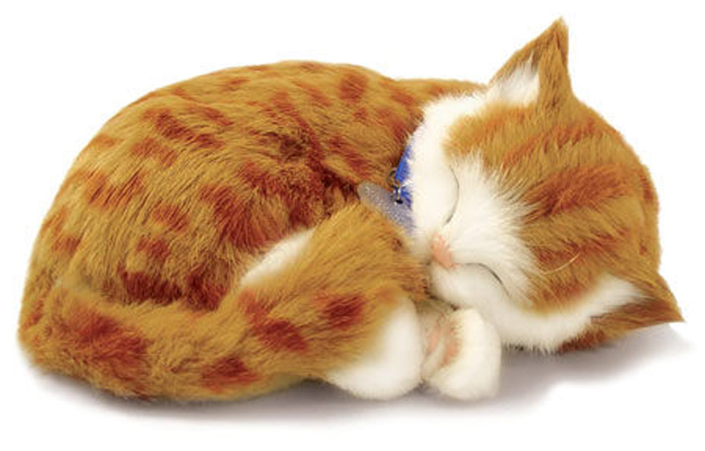 Orange Tabby Perfect Petzzz Life Like Stuffed Animal Breathing Cat