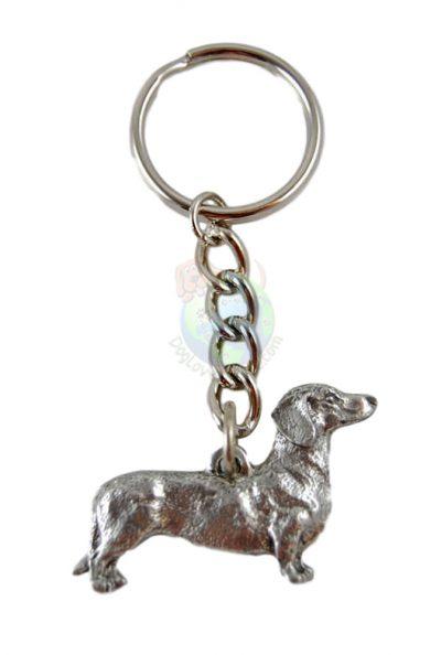 Dachshund-Dog-Fine-Pewter-Silver-Keychain-Key-Chain-Ring-181280136689