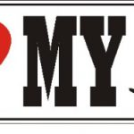 I Love My Dachshund Dog Car Bumper Sticker 1