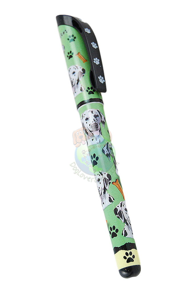 Dalmatian Writing Pen Green in Color