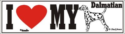 I Love My Dalmatian Dog Bumper Sticker 1