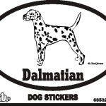 Dalmatian Dog Silhouette Bumper Sticker 1