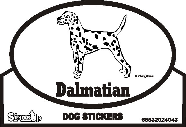 Dalmatian Dog Silhouette Bumper Sticker