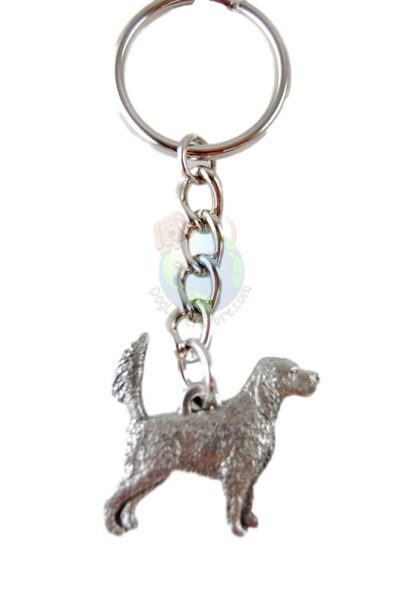 English Setter Tail Up Pewter Keychain