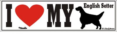 English Setter_dog_love_bumper_sticker