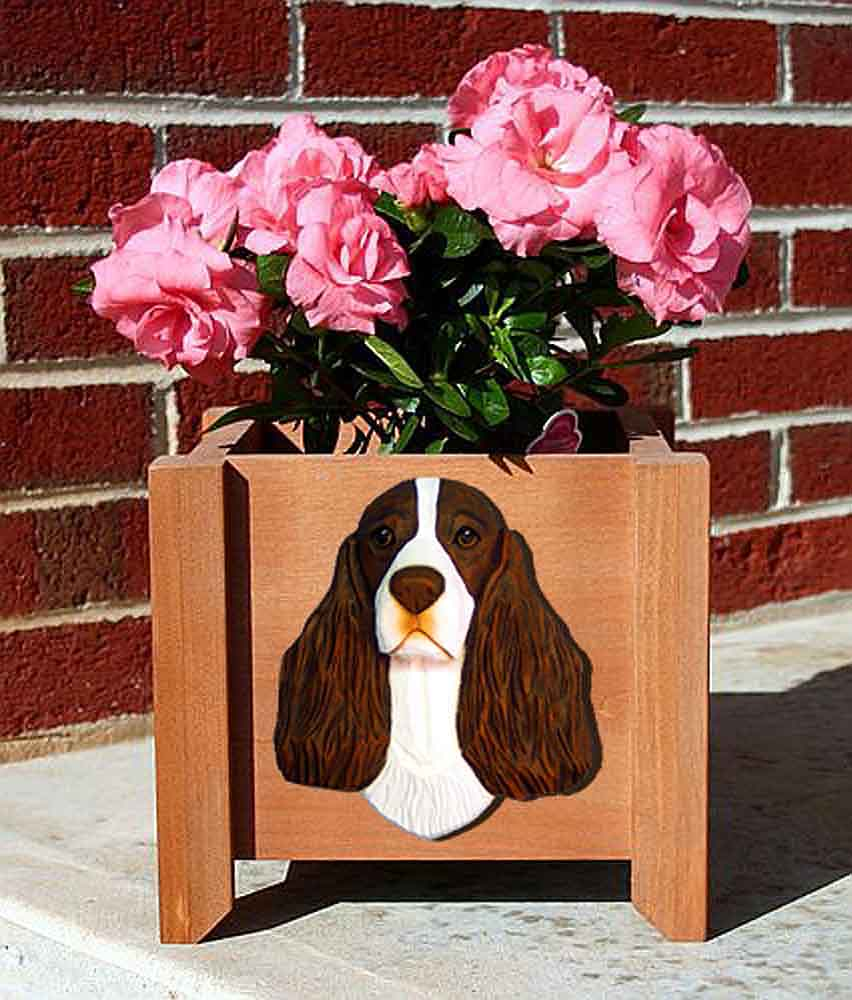 English Springer Spaniel Planter Flower Pot Liver