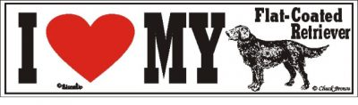 Flat Coated Retriever_dog_love_bumper_sticker