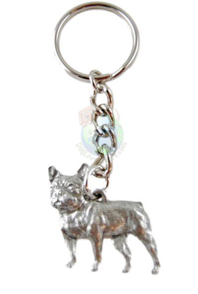 French Bulldog Pewter Keychain