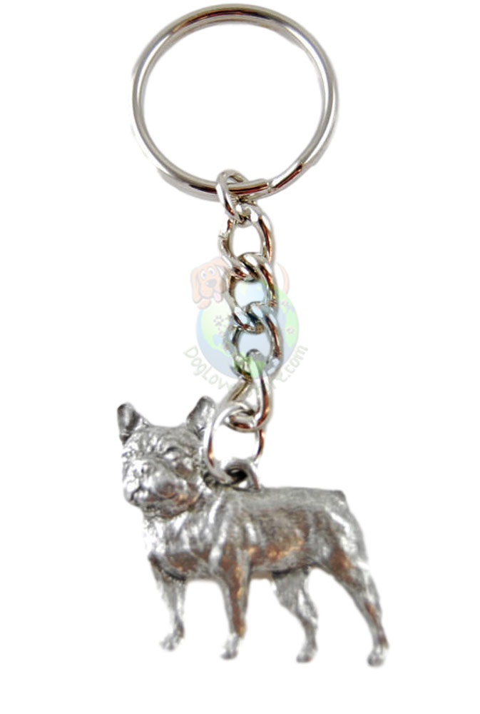 French Bulldog Pewter Keychain