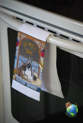 French Bulldog Kitchen Hand Towel
