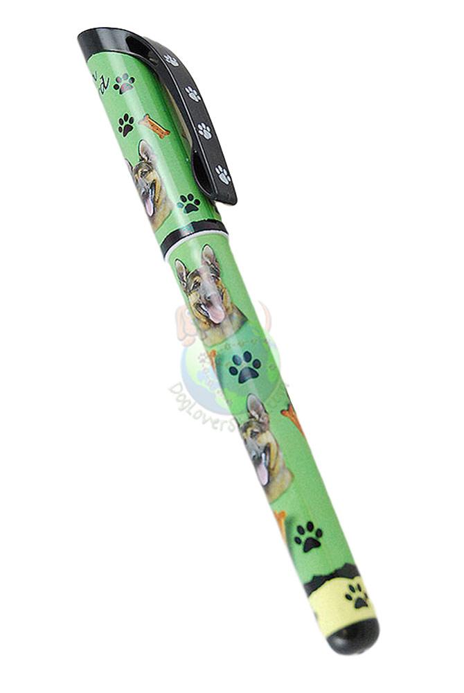 German Shepherd Writing Pen Green in Color