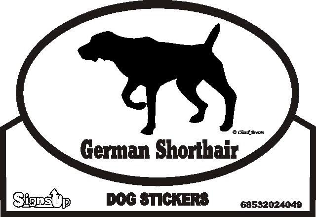 German Shorthaired Pointer Dog Silhouette Bumper Sticker