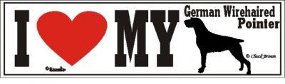 German Wirehaired Pointer_dog_love_bumper_sticker