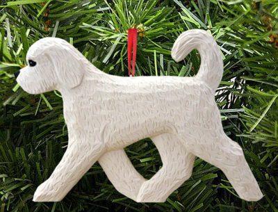 Goldendoodle Ornament White