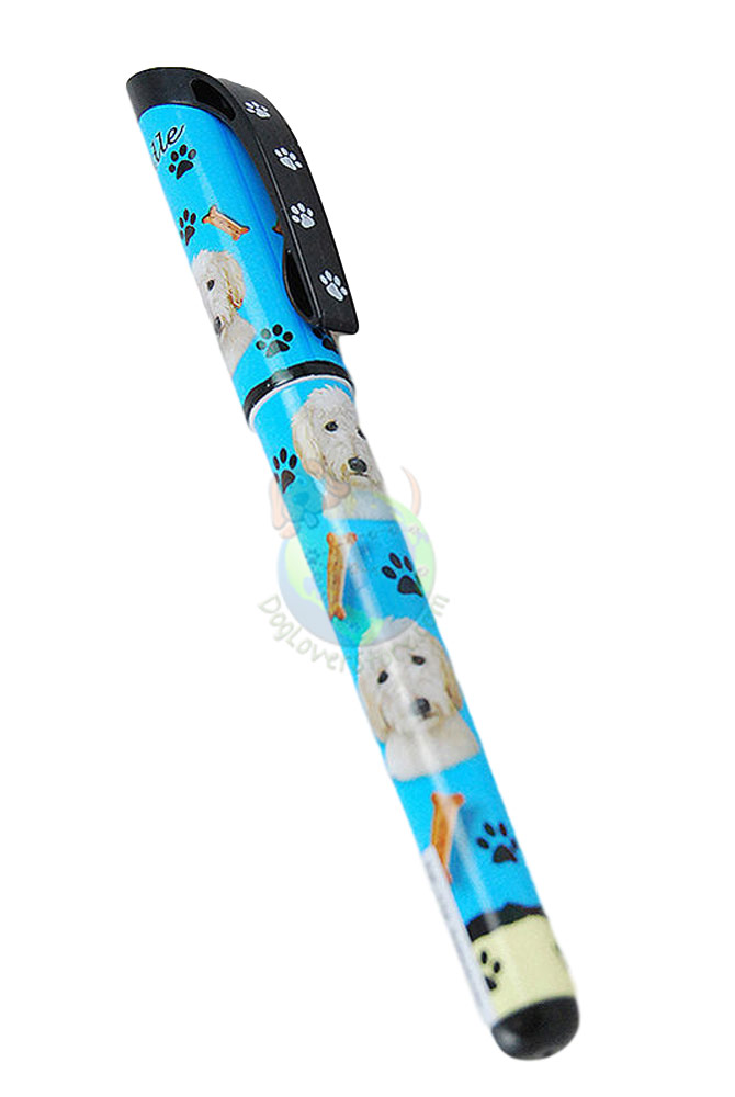 Goldendoodle Writing Pen Blue in Color
